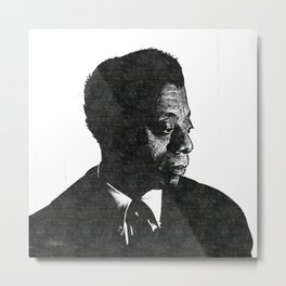 James Arthur Baldwin - Society6 African American Novelist Playwright Essayist Poet Activist 1 Metal Print