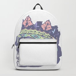 Pastel Classic Style Skull with Crown Backpack