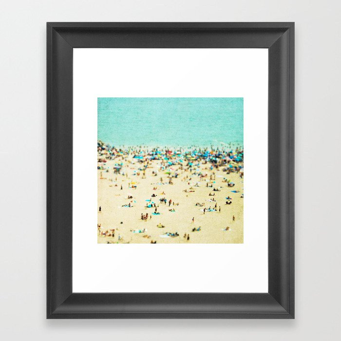 Coney Island Beach Framed Art Print
