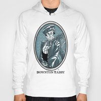 downton abbey Hoodies featuring Downton Tabby by Gimetzco's Damaged Goods