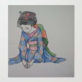 Maiko Kneeling Canvas Print