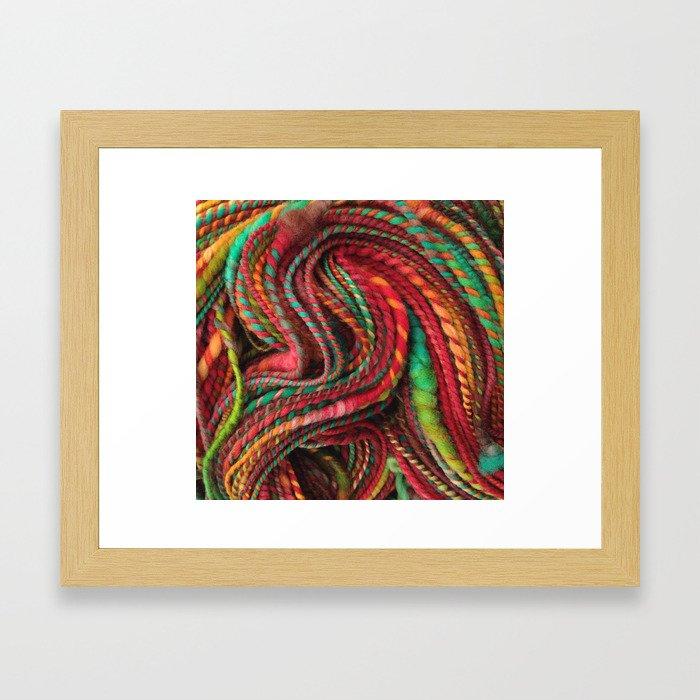 Pecos Valley - Handspun Coiled Yarn Framed Art Print