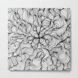 LineArt (Black & White) Metal Print