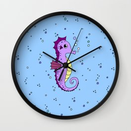 Little sea horse Wall Clock