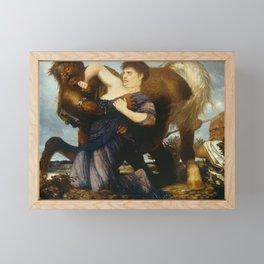 Man Fighting with Evil Framed Mini Art Print