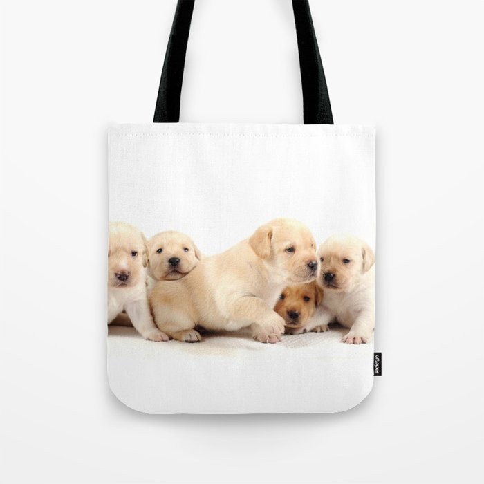 Puppies Labrador Retriever Tote Bag