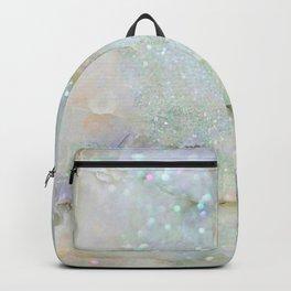 Elegant Aqua Marble with Flecks of Diamond Glitter Backpack
