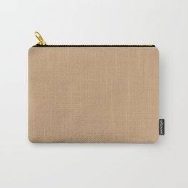 Solid Color - Pantone Sand 15-1225 Tan Beige Carry-All Pouch