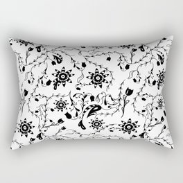 Doodle flowers pattern Rectangular Pillow