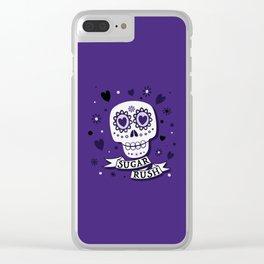 Sugar Rush Purple Heart Clear iPhone Case