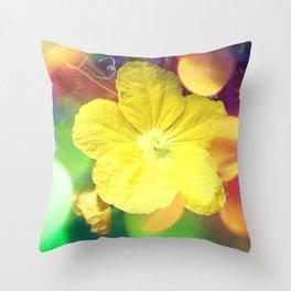 Secret Garden | Cucumber flower Throw Pillow