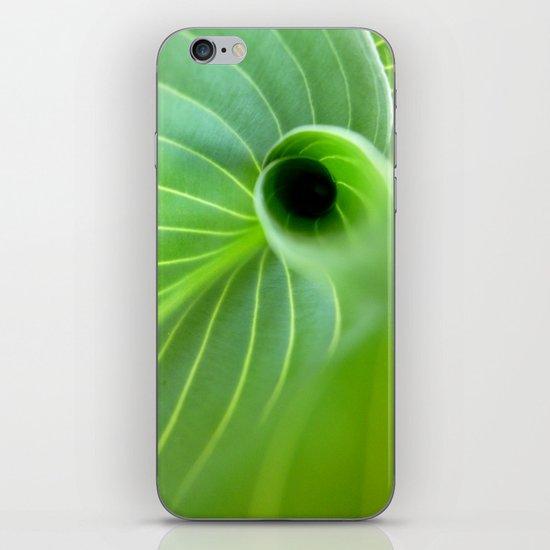 Green Swirl iPhone & iPod Skin