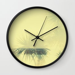 Double exposure Porthminster Beach, Cornwall Wall Clock