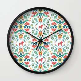 Swedish Folklore Wall Clock