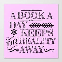 A Book A Day... Canvas Print