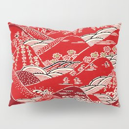 Red Mountains Pillow Sham