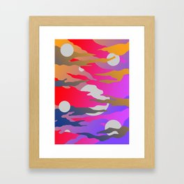 Camouflage and Circles I Framed Art Print