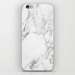 Rose gold shimmer vein marble iPhone Skin