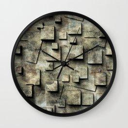 old wall, seamless Wall Clock