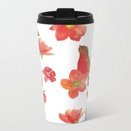 Hello Robin - White Version Metal Travel Mug