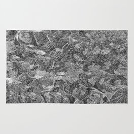 Pen and Ink Detailed Patterning Rug