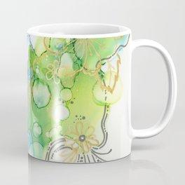 Fresh Spring Bloom Abstract Ink Painting Coffee Mug