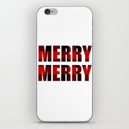 Merry Merry Red Plaid iPhone Skin