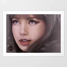 Glitter - Lisa Art Print