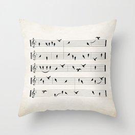Black Birds Throw Pillow