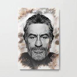Robert De Niro - Caricature Metal Print