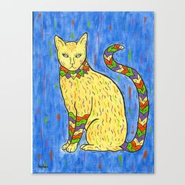 Blue Tabby Kat Canvas Print