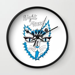Right Meow Wall Clock