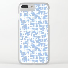 Brush cross on  blue Clear iPhone Case