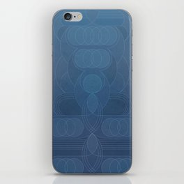 Round and About Blue Gray iPhone Skin
