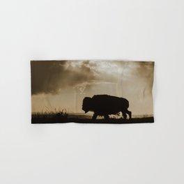 Bison in the Storm - Badlands National Park Hand & Bath Towel