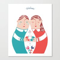 sister Canvas Prints featuring Sister by Michela Gaburro