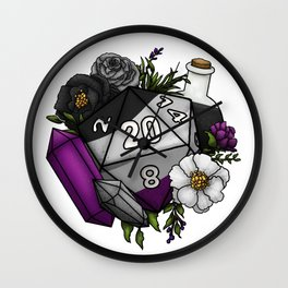 Pride Asexual D20 Tabletop RPG Gaming Dice Wall Clock