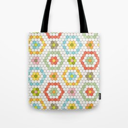 Hexagon Tile Pattern Tote Bag