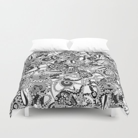 tentacles mono Duvet Cover