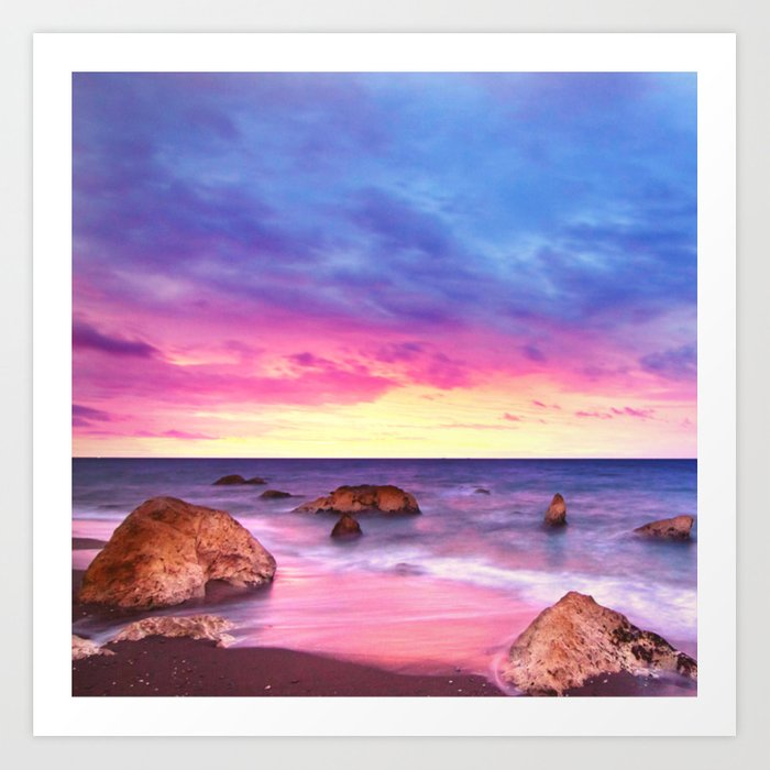 Sunrise over the Ocean Beach Art Print