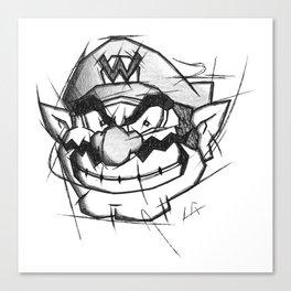 Wario Handmade Drawing, Games Art, Super Mario, Nintendo Art Canvas Print