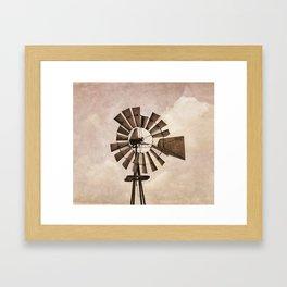Iowa Windmill Framed Art Print