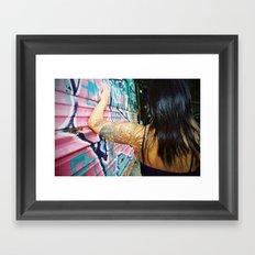 Phoenix grafitti Framed Art Print