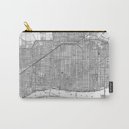 Vintage Map of Detroit Michigan (1901) Carry-All Pouch
