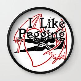 I Like Pegging Wall Clock