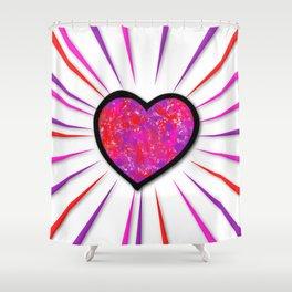Painterd heart Shower Curtain