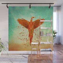 Phoenix Rising -Mixed media Wall Mural