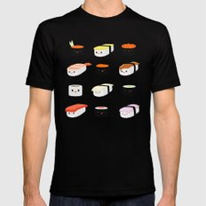 Sushi! Black X-LARGE Mens Fitted Tee