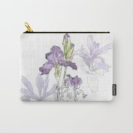 Iris - Flower botanical illustration Carry-All Pouch