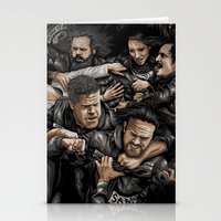 sons of anarchy Stationery Cards featuring Sons of Anarchy-War by Denis O'Sullivan